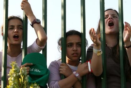 Girls from Gush Katif protest Disengagement