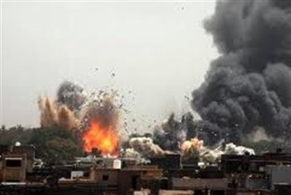 NATO Bombs Qaddafi's Tripoli compound