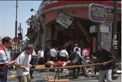 Sbarro bombing medics and victim