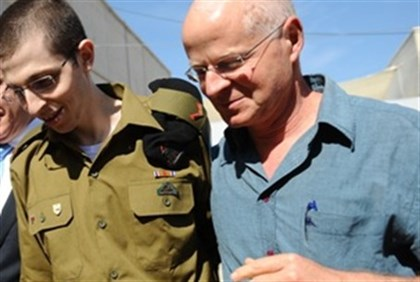 Gilad Shalit and his father Noam