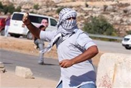 Rock throwing by PA Arabs