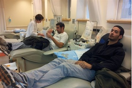 Blood donations at BEilinson.