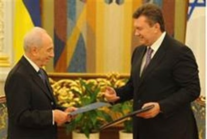 President Shimon Peres and morning visitor