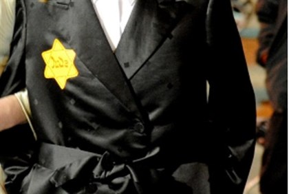 Yellow star in protest