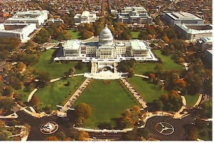 Aerial view of Capitol Hill
