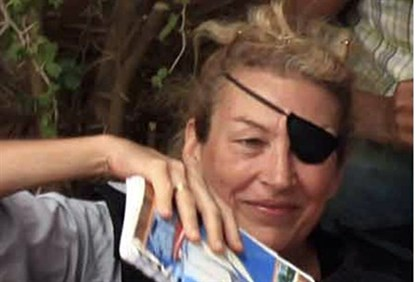 American journalist Marie Colvin in June 2011 photo itaken in Libya