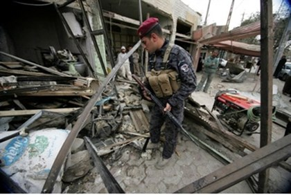 Aftermath of bomb attack in Iraq