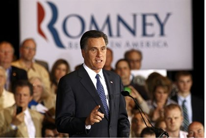 Romney campaigns in Illinois