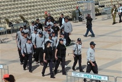 Knesset Guard preparing for ceremony