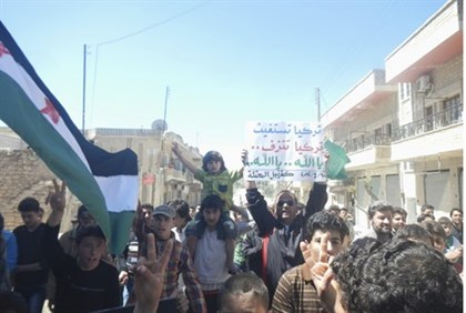 Protesters Demand Ceasefire in Idlib, Syria on 10.04.12