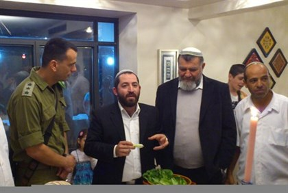 Rabbi Aharon Cohen, Gershon Mesika at Mimouna in Samaria