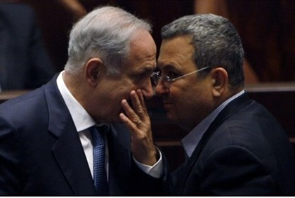 Netanyahu with Defense Minister Barak