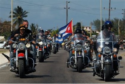 Coming to the IDF? Harley Davidson motorcyclists ride in Cuba