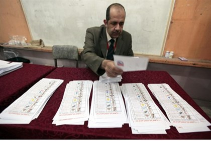 Egyptian Official Counts Ballots