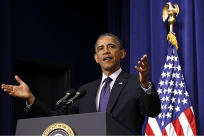 U.S. President Barack Obama speaks before signing the reauthorization of the Export-Import Bank at t