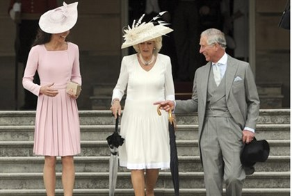 Catherine, the Duchess of Cambridge, Camila the Duchess of Cornwall, and Prince Charles