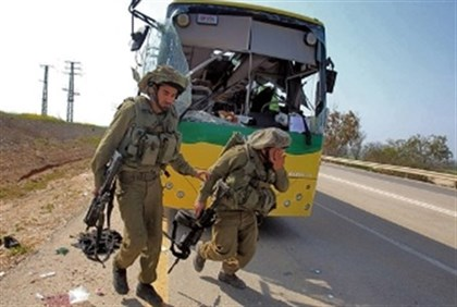 Aftermath of Kornet missile attack on school bus last year