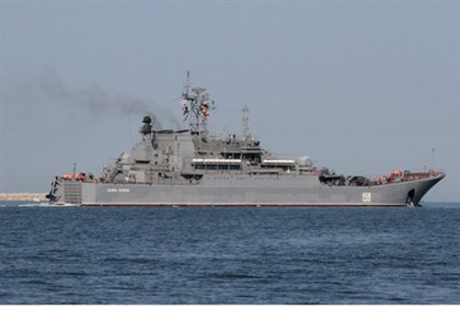 Russian Navy amphibious landing vessel leaves for Tartus
