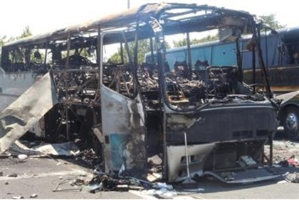 Bus destroyed in Burgas attack