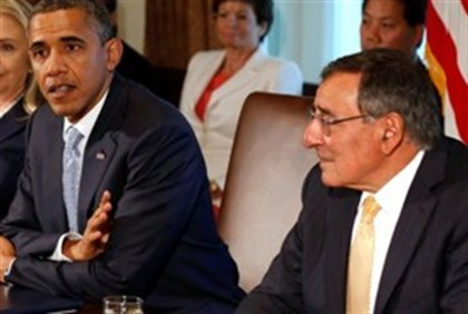 Panetta at recent Obama Cabinet meeting