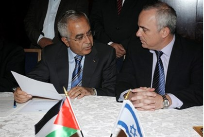 Steinitz and PA Prime Minister Salam Fayad