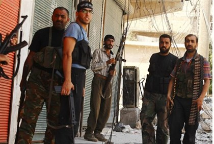 Members of the Free Syrian Army in Aleppo