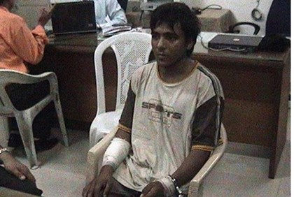 Mohammed Ajmal Kasab in undated footage