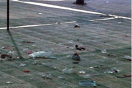 Trash on the Temple Mount