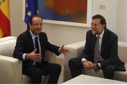 Hollande with Rajoy