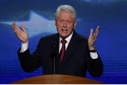 Former President Clinton at the Democratic National Convention