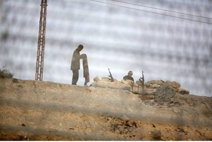 Egyptian soldiers in Sinai