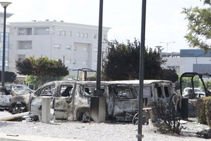 Aftermath at US embassy in Tunisia