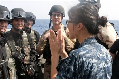 US-China cooperation during operation in drill