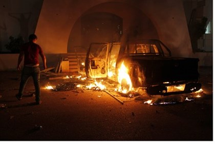 Demonstrators storm Ansar al-Shari-a headquarters in Libya