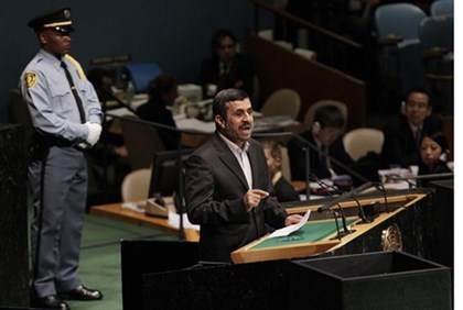 Iran Pres. Mahmoud Ajmadinejad at UN meeting
