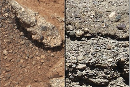 Pictures taken on Mars