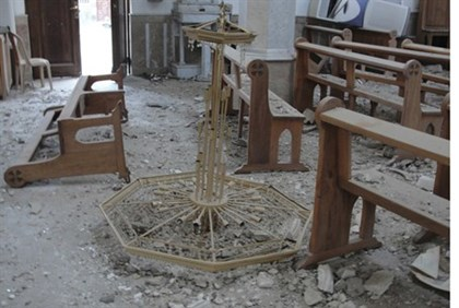 Churches and mosques have not escaped damage in shelling by loyalist troops