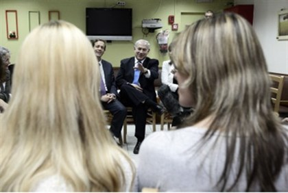 Prime Minister visits a battered women's shelter