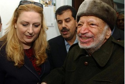 Suha Arafat and Yasser Arafat