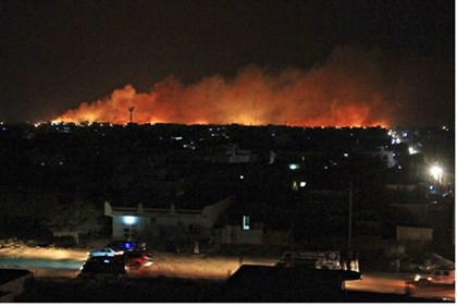 Huge fire engulfs the Yarmouk ammunition factory in Khartoum