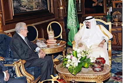 Saudi King Abdullah meets with UN-Arab League peace envoy for Syria