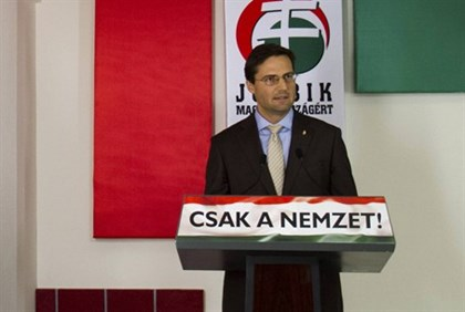 Marton Gyongyosi, leader of Hungary's Jobbik party