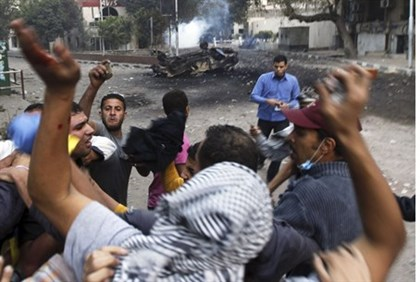 Rioters in Cairo