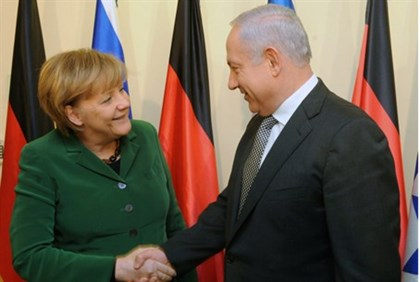 PM Netanyahu and German Chancellor Angela Merkel