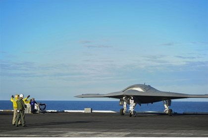 The X-47B Unmanned Combat Air System (UCAS) demonstrator
