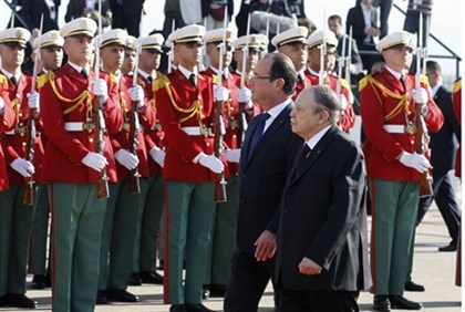 Hollande in Algiers