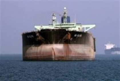 Oil tankers off the port of Bandar Abbas, southern Iran