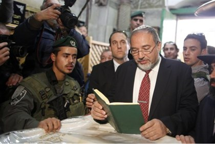 Lieberman at the Cave of the Patriarchs