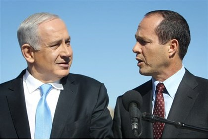 Barkat (R) and Netanyahu