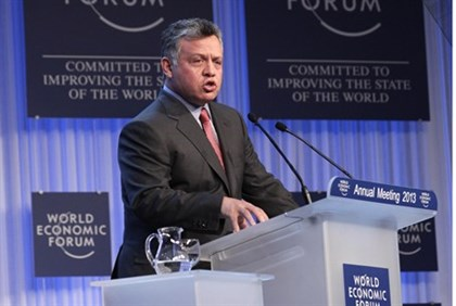 Jordan's King Abdullah at the annual meeting of the World Economic Forum in Davos